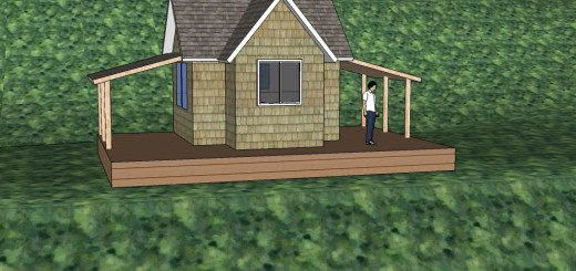 cabin model with deck and porches2