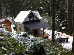 Off Grid cabin project in the woods