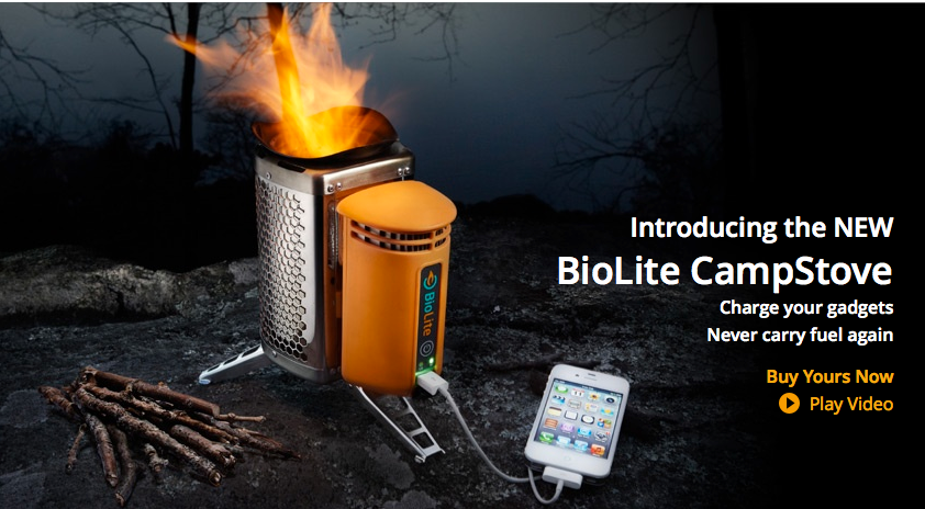 Biolite Stove Charges Usb Devices With Fire Video