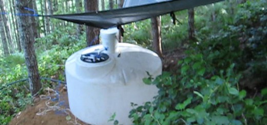 Rain Water Collection off grid with tarp