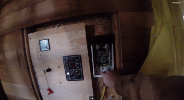 charge controller in off grid cabin
