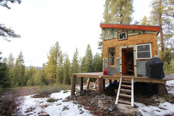 Young Tahoe Couple's Hand Crafted Off Grid Cabin