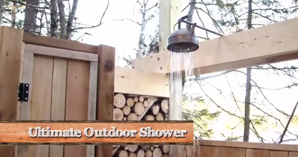 How to make an outdoor shower at your cabin or cottage