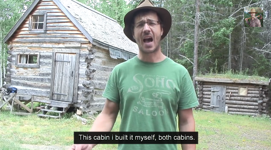 How I lived Off the Grid for a Year – Building My Log Cabin Video