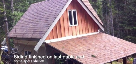 Off Grid Cabin Update Video – October '13 – Trim and Water system