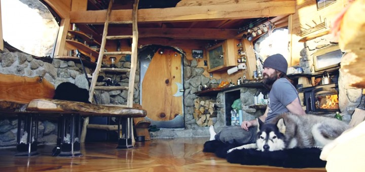 Mike Basich off grid cabin