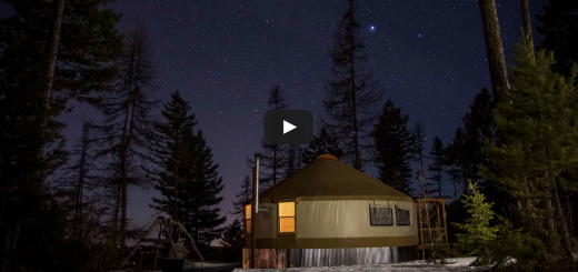 off grid yurt living montana